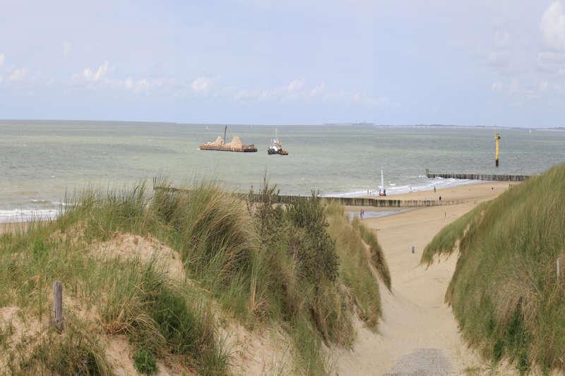 Cadzand strand duinen panorama