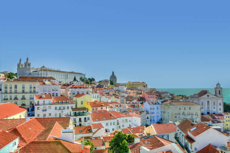 Portugal zee zicht en dorp