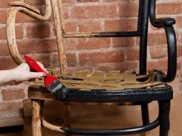Oud stoel meubel opknappen