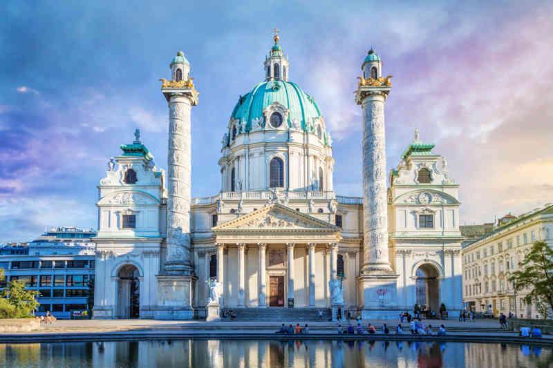 St. Charles's kerk in Wenen, Oostenrijk