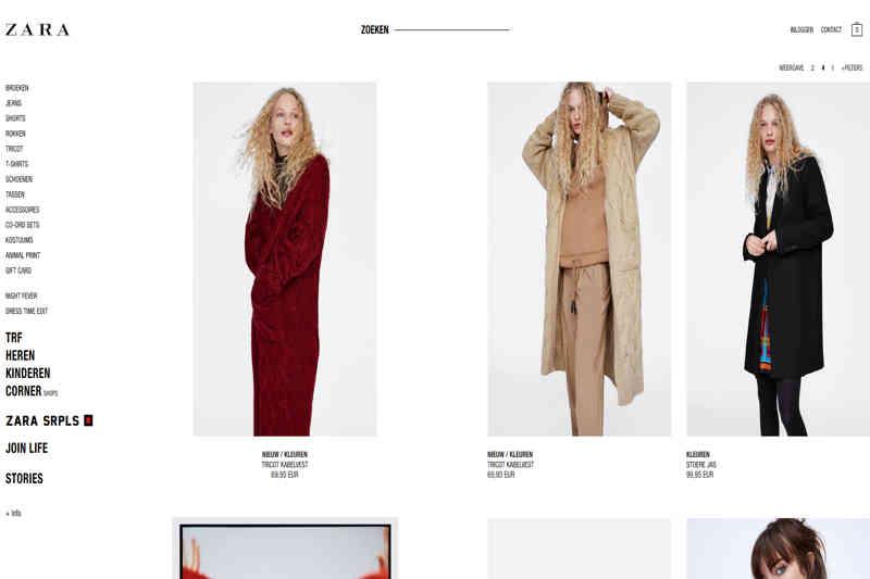 Zara webshop