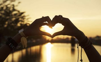Dankbaarheid in de vorm van een hart